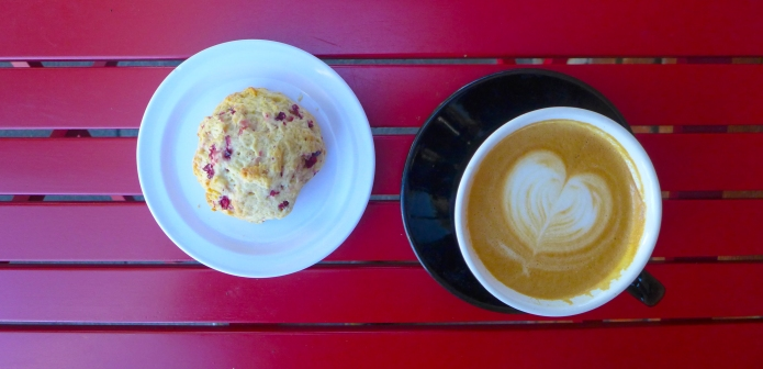 Cranberry Scone & Cappuccino